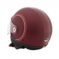 Casque Vespa Modernist Bordeaux