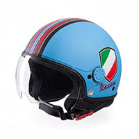Vespa V-stripes Helmet Light-blue