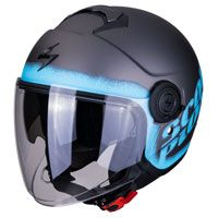 Jet Helmet Scorpion Exo-city Blurr Light Blue