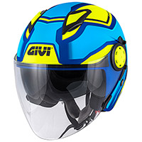 Givi 12.3 Stratos Shade Helmet Blue Yellow
