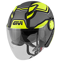 Casco Givi 12.3 Stratos Shade Titanio Giallo