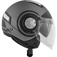 Givi Air Jet R Round Helmet Titanium Black