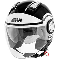 Givi Air Jet R Round Helmet Black White