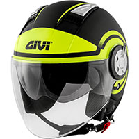 Givi Air Jet R Round Helmet Black Yellow