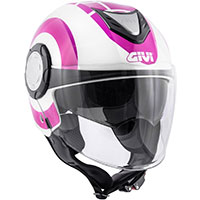 Givi 12.4 Future Big Helmet White Fuchsia Lady