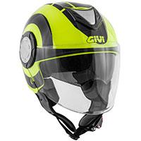 Givi 12.4 フューチャービッグヘルメット ブラックイエロー