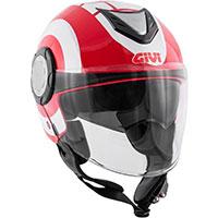 Givi 12.4 フューチャービッグヘルメット レッドホワイト