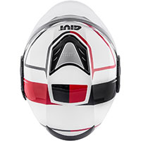 Givi 12.4 Future Stripes Helmet White Red