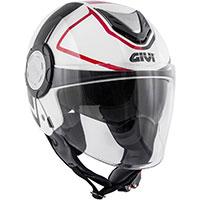 Casco Givi 12.4 Future Stripes blanco rojo