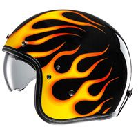 Hjc Fg-70s Aries Mc3 Helmet Black Orange