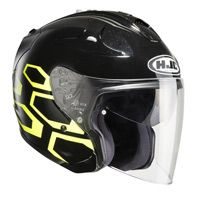 Hjc Fg-jet Dukas Mc4h Helmet Black Yellow
