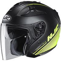 Hjc Fg Jet Paton Helmet Black Yellow