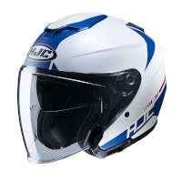 Casco Jet Hjc I30 Baras Bianco Blu