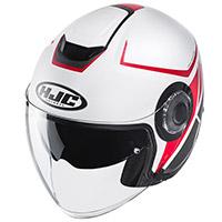 Hjc I40 Camet Helmet White Red Grey