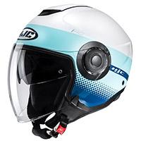 Hjc I40 Unova Helmet White Light Blue