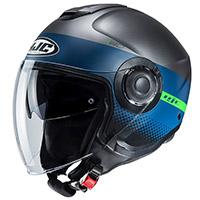 Hjc I40 Unova Helmet Titanium Blue