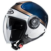 Hjc I40 Wirox Helmet White Blue Gold
