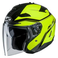 Open Face Helmet Hjc Is-33 Ii Korba Yellow