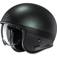 Hjc V30 Perot Helmet Green Black