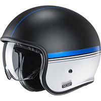 Hjc V30 Equinox Helmet Black Blue White