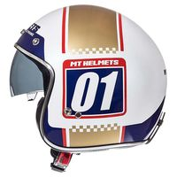 Mt Helmets Le Mans 2 Sv Numberplate A0 Oro