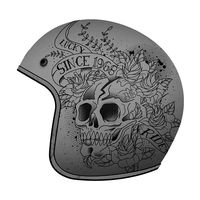 Mt Helmets Le Mans 2 Sv Skull & Roses A2 Gris