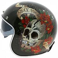 Mt Helmets Le Mans 2 Sv Skull & Roses A1 Black