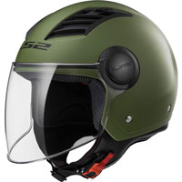 Ls2 Airflow L Of562 Solid Verde Militare Opaco