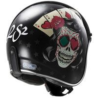 Ls2 Bobber Of583 Tattoo Nero
