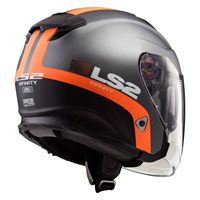 Ls2 Infinity Of521 Smart Matt Titanium Orange