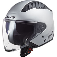 Casco Ls2 Of600 Copter Solid Argento Opaco