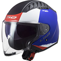 Ls2 Of600 Copter Urbane Helmet Blue Red