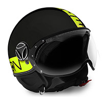 Momo Design Fgtr Fluo Helmet Black Matt Yellow 21