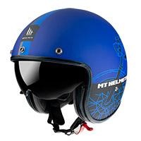 Mt Helmets Le Mans 2 Sv Cafè Racer B7 azul opaco