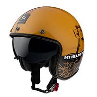 Mt Helmets Le Mans 2 Sv Cafè Racer B9 dorado