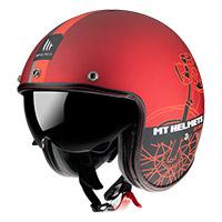 マウント ヘルメット ル マン 2 Sv カフェ レーサー B5 レッド マット