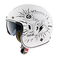 Casco Mt Helmets Le Mans 2 Sv Diler B0 blanco