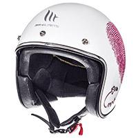 Mt Helmets Le Mans 2 Sv Love A0 White Pink