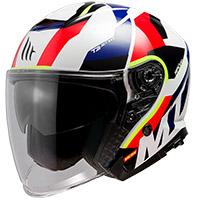 Casco Mt Helmets Thunder 3 Sv Jet Bow E5 rojo