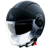 Casco Mt Helmets Viale Sv Solid A1 Nero Opaco