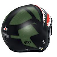 Nolan N21 Skydweller Verde Nero Opaco - 3