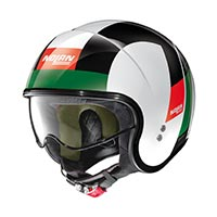 Nolan N21 Spheroid Helmet Red Green White