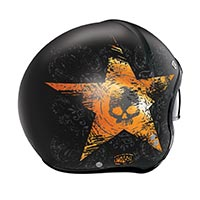 Nolan N21 Star Skull Helmet Black Orange