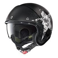Nolan N21 Star Skull Helmet Black White