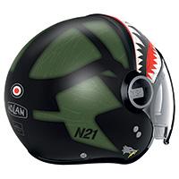 Nolan N21 Visor Skydweller Green Black Matt