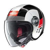Nolan N21 Visor Spheroid Helmet White Red Black