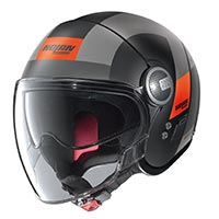Nolan N21 Visor Spheroid Helmet Black Gray Orange