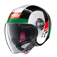 Nolan N21 Visor Spheroid Helmet White Red Green