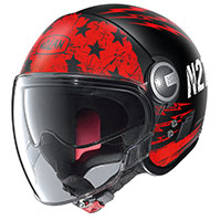 Nolan N21 Visor Jetfire Black Red
