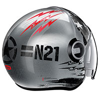 Nolan N21 Visor Jetfire Scratched Chrome Grey